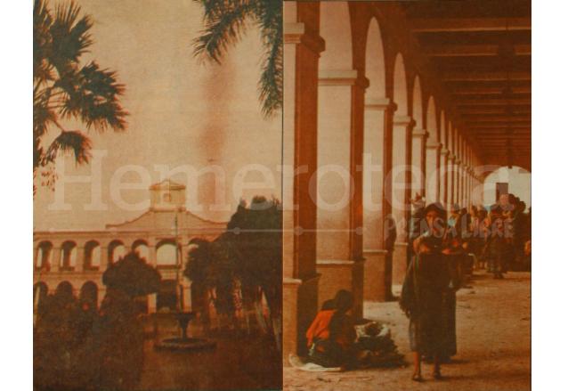 Portales de Plaza Cataluña, San Juan Sacatepéquez, reconstruida con ayuda del pueblo español. (Foto: Hemeroteca PL)