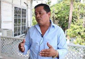 Rony Méndez, alcalde de El Estor, Izabal, asegura que vecinos intentaron lincharlo.(Foto Prensa Libre: Hemeroteca PL)