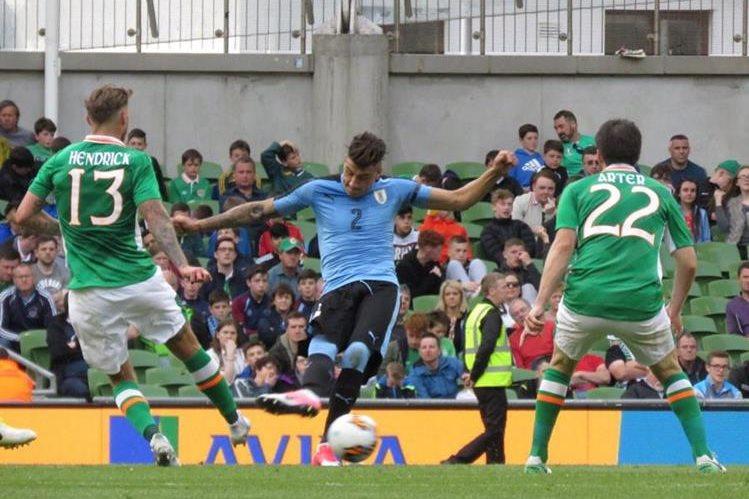 La selección de Irlanda superó sin problemas 3-1 a los uruguayos: (Foto Prensa Libre: Tomada de internet).