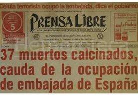 Titular de Prensa Libre del 1 de febrero de 1980. (Foto: Hemeroteca PL)