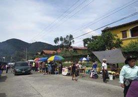 Vista de una de las calles del municipio. (Foto: comuna de Santa Lucía Milpas Altas)