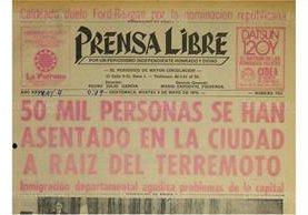 4/4/1976 Portada sobre la migración interna a la ciudad capital ( Foto: Hemeroteca PL)