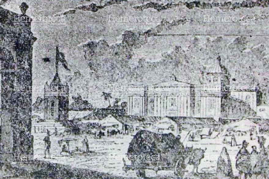 Aspecto de la Plaza Mayor de Guatemala a principios del siglo XIX. (Foto: Hemeroteca PL)