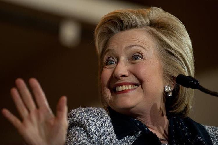 Hillary Clinton ya se transformó en la virtual candidata a las presidenciales de noviembre en EE. UU. (Foto Prensa Libre: AFP).