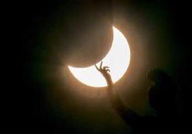 Fue visible en regiones del sur de África, Oceanía y Madagascar.