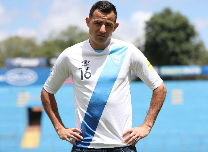 Marco Pappa, jugador de la Selección de Guatemala. (Foto Prensa Libre: Jorge Ovalle).