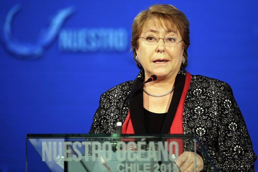La presidenta de Chile, Michelle Bachelet, anunció hoy la medida. (Foto Prensa Libre: EFE).