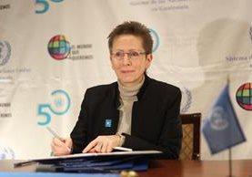 Valerie Julliand, Coordinadora Residente del Sistema de las Naciones Unidas en Guatemala. (Foto Prensa Libre: Esbin García)