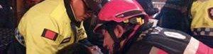 Uno de los heridos en Ecuador.