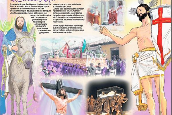 Cuaresma y   Semana Santa en Guatemala. (Inforgrafía Prensa Libre: Kevin Ramírez)