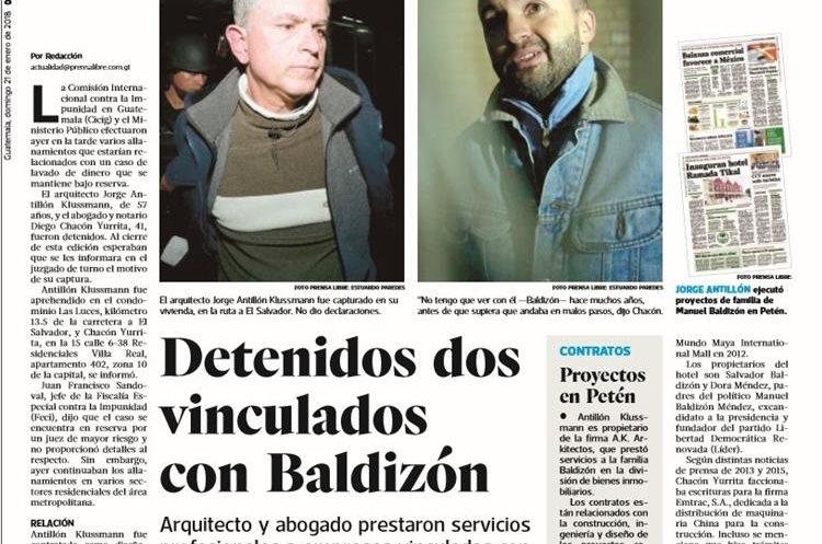 Información sobre la captura de dos personas vinculadas con Manuel Balidizón, por la cual se impidió la circulación de Prensa Libre en Petén.
