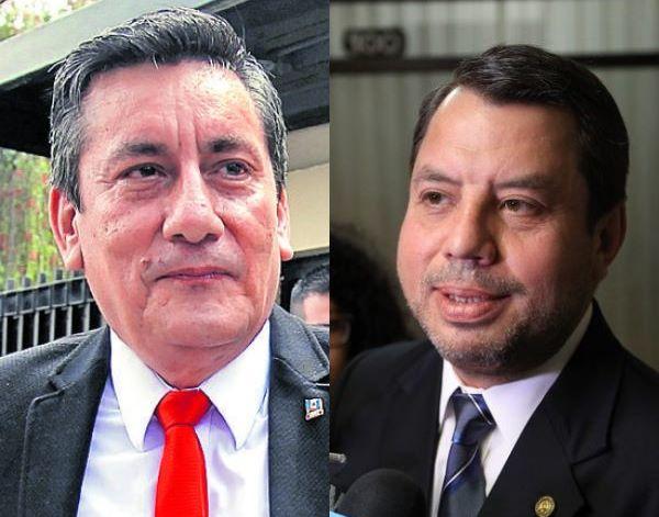 Los diputados Roberto Villate y Salvador Baldizón se refirieron a la detención de Manuel Baldizón. (Foto Prensa Libre: Hemeroteca PL/Carlos Hernández).