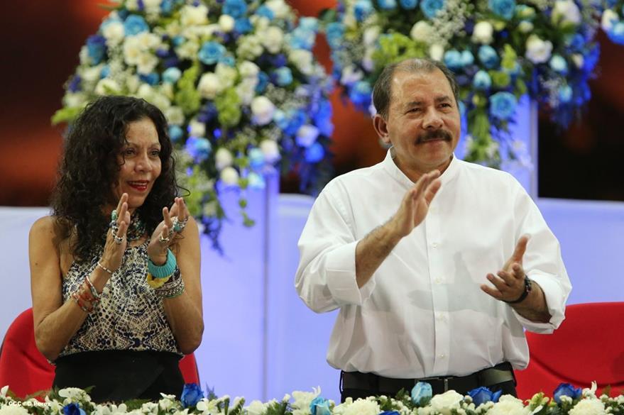 Rosario Murillo y Daniel Ortega no faltan a ningún acto organizado por su gobierno.