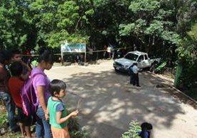 Lugar donde murió baleada la víctima, en Yupiltepeque, Jutiapa. (Foto Prensa Libre: Óscar González)