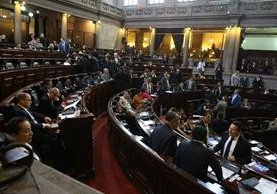 Sesión plenaria de este martes en el Congreso de la República. (Foto Prensa Libre: Álvaro Interiano).