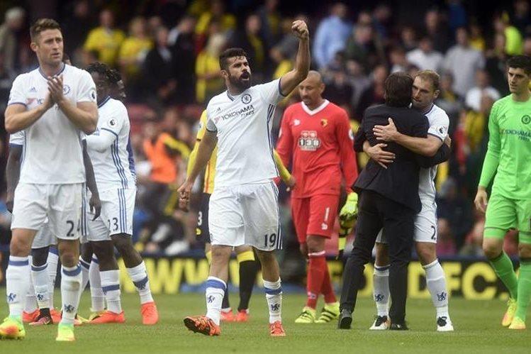 Diego Costa sigue conectado con el gol y ahora ayudó en la remontada del Chelsea. (Foto Prensa Libre: EFE)
