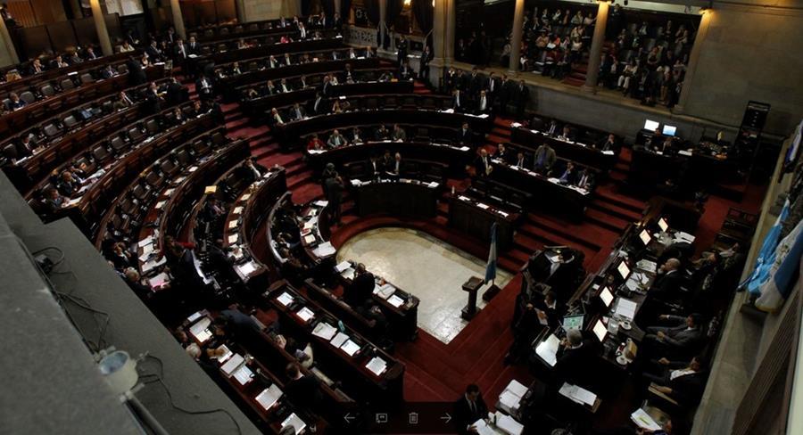 Vista panorámica del Hemiciclo parlamentario. (Foto Prensa Libre: Hemeroteca PL)
