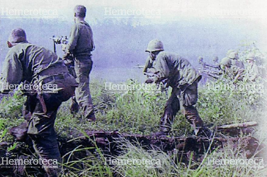 Efectivos norteamericanos durante la Guerra de Vietnam en los años 70. (Foto: Hemeroteca PL)
