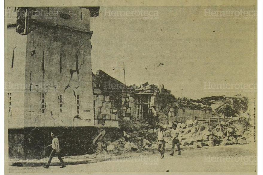 Área conocida como El Comercio, en el centro de Managua, quedó destruida. (Foto: Hemeroteca PL)