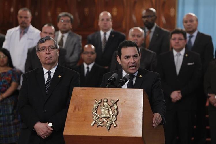Jimmy Morales atribuye al Estado la responsabilidad de la tragedia en Hogar Seguro. (Foto Prensa Libre: Hemeroteca PL)