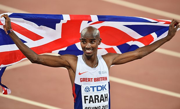 El británico Mo Farah es una de las máximas figuras del atletismo de su país. (Foto Prensa Libre: Hemeroteca PL)