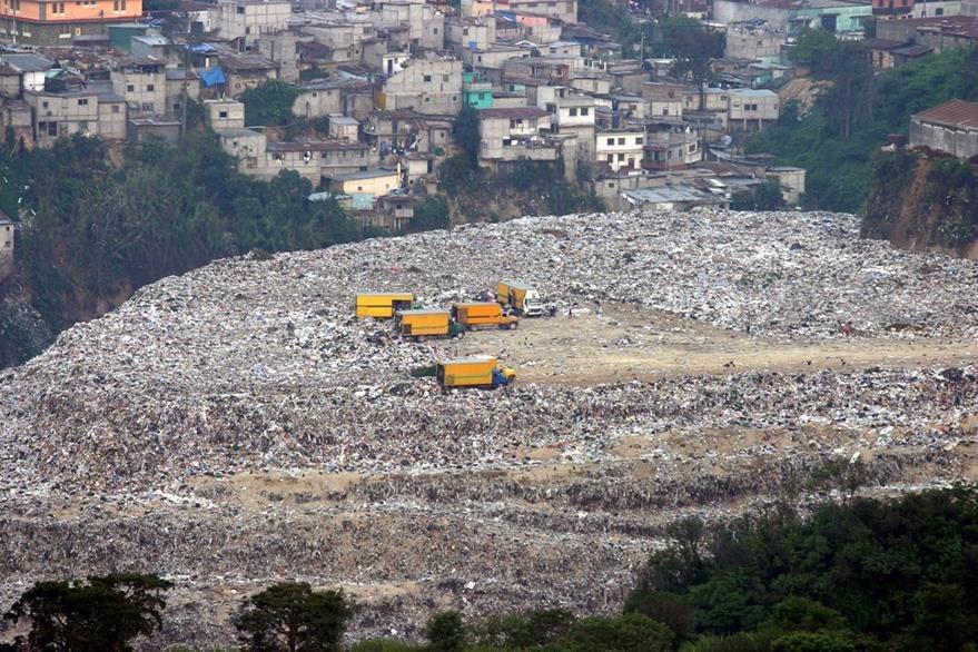 Panorámica Basurero de la zona 3 de la ciudad de Guatemala. (Foto Prensa Libre: Hemeroteca PL)