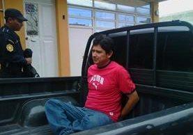 Juan Natalio Brazo Díaz fue capturado por el delito de trata de personas en residenciales Valle de Jesús I, colonia Maya zona 18, (Foto Prensa Libre: Erick Ávila)
