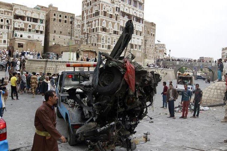El carro bomba estalló en el exterior del palacio y causó siete muertos.