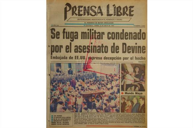 Portada del 14 de mayo de 1993, con titular sobre la fuga de Contreras Alvarado. (Foto: Hemeroteca PL)