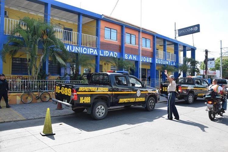 Comuna de Puerto San José, donde el Concejo aprobó en reserva información de la entidad. (Foto Prensa Libre: Enrique Paredes).