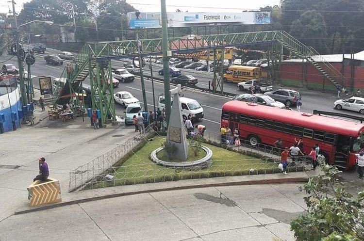 Vista panorámica del monumento, a un costado de la ruta Interamericana. (Foto Prensa Libre: Óscar Felipe Quisque)