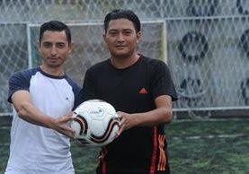 La dupla Duarte-Rivas espera representar de la mejor manera a Guatemala en el Mundial de Tenis Futbol. (Foto Prensa Libre: Edwin Fajardo)
