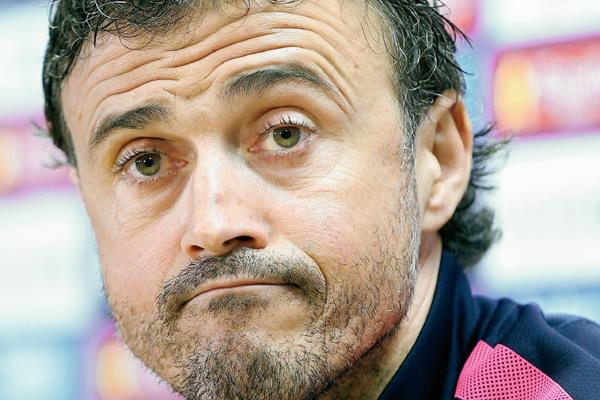 Luis Enrique cree que su equipo está en un momento inmejorable para encarar las competiciones. (Foto Prensa Libre:EFE)