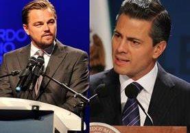 Leonardo DiCaprio y Enrique Peña Nieto intercambiaron mensajes en redes sociales. (Foto Prensa Libre: hemerotecaPL)