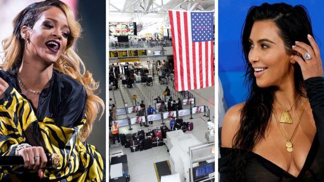 La cuenta de Instagram de la Administración de Seguridad en el Transporte de EE.UU. es un éxito solo superado por Rihanna (izda), National Geographic y Kim Kardashian. (BBC/GETTY/REUTERS)
