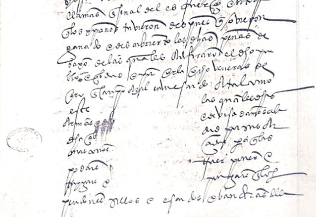 Real Cédula. El segundo folio tiene un espacio en blanco, donde se supone que estaría el escudo. (Foto: Hemeroteca PL)