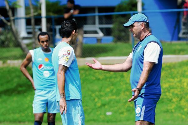Entreno de la Selección Nacional en el Proyecto Goal (Foto Prensa Libre: Óscar Felipe Q.)