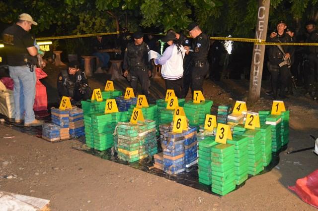 El valor de la cocaína incautada en Guatemala durante el 2017 fue de unos US$ 187 millones – unos Q1 mil 383 millones–. (Foto HemerotecaPL)