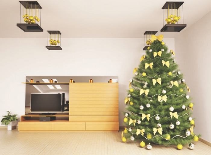 con objetos sencillos y renovados se le puede dar una nueva vida al rbol de navidad
