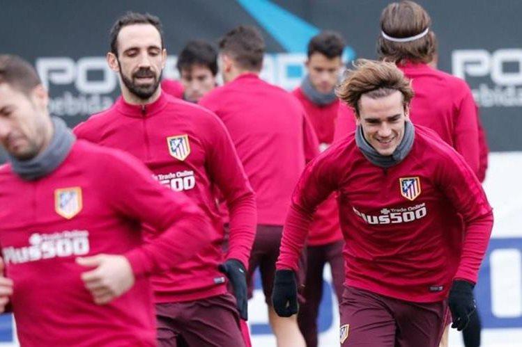 El Atlético de Madrid volvió a los entrenamientos de cara al partido del miércoles contra el FC Barcelona en la ida de semifinales de la Copa del Rey. (Foto Prensa Libre: Atlético de Madrid)
