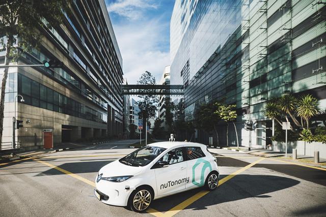 Singapur es el primer lugar en el mundo en que NuTonomy lanzó oficialmente sus taxis sin conductor. (Foto Prensa Libre: EFE).