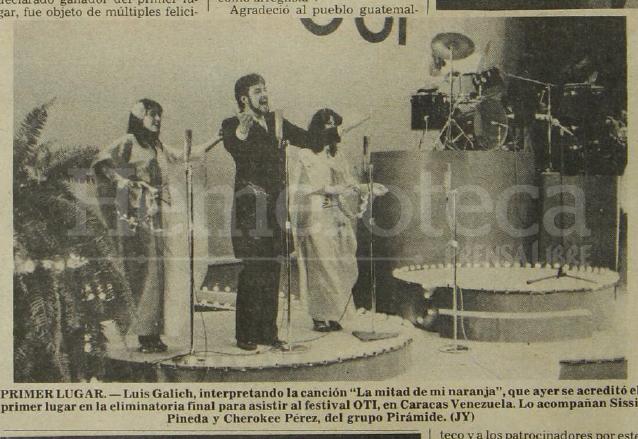 Luis Galich en 1979 antes de participar en el Festival OTI. (Foto: Hemeroteca PL)