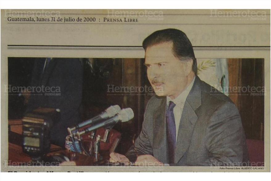 Alfonso Portillo sabía del pasado de Barrientos cuando decidió nombrarlo en la cartera de Gobernación. (Foto: Hemeroteca PL)